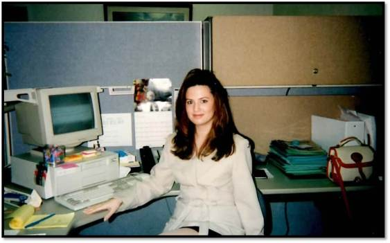 Arden at the office 1996