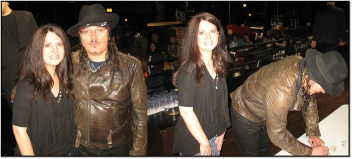 Arden at Adam Ant Meet and Greet