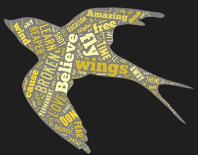 Songs about bird flight word cloud